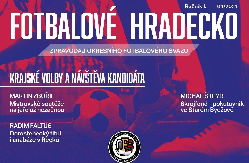 Zpravodaj OFS Hradec Fotbalové Hradecko č. 4/2021 dnes vyšel.