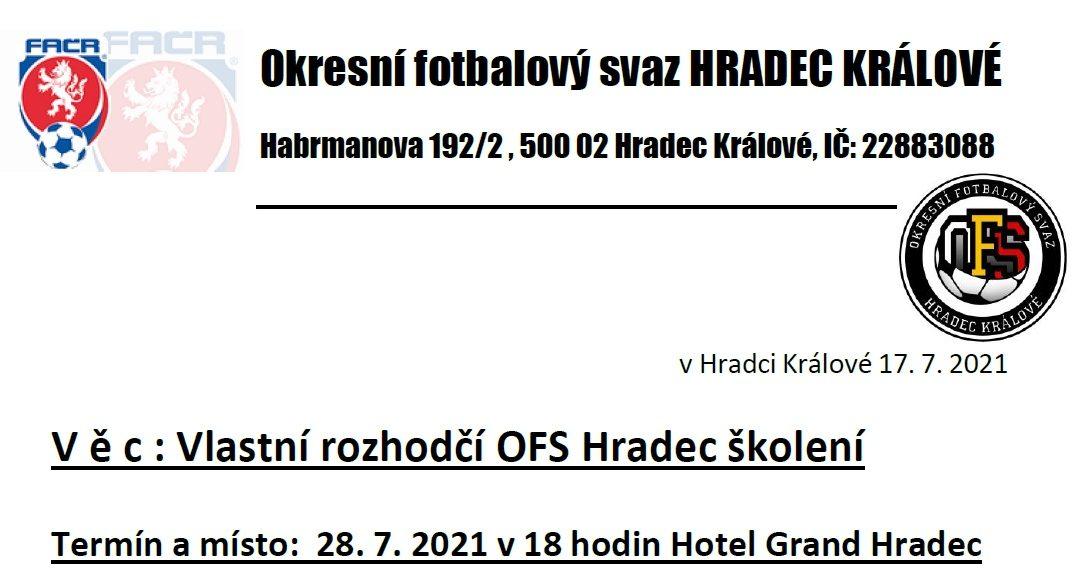 Pozvánky, informace a pokyny k přihlášení zaslány mailem na kluby OFS Hradec – podrobnosti v příloze.
