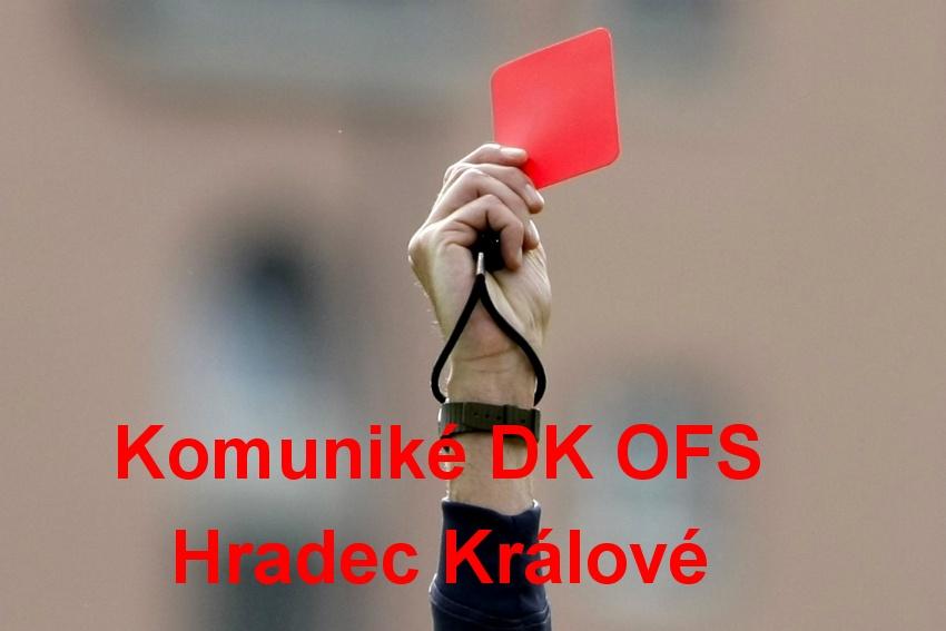 Komuniké DK OFS Hradec Králové z 25. 8. 2021